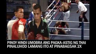 PINOY HINDI UMOBRA ANG PAGKA-ASTIG NG THAI, PINALUHOD LAMANG ITO AT PINABAGSAK NG DALAWANG BESES