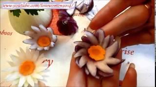 Цветы из репчатого лука. Как украсить стол онлайн.
