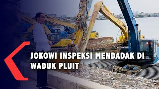 Detik-detik Jokowi Inspeksi Mendadak di Waduk Pluit, Tanpa Anies