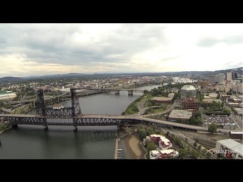 Drone's Eye View of Portland, Oregon