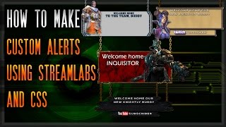 How to make custom alerts for OBS Studio using StreamLabs and CSS [Guide] [Walkthrough] [Tutorial] thumbnail