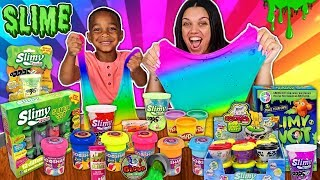 MIXING ALL MY STORE BOUGHT SLIMES | DJ's Clubhouse