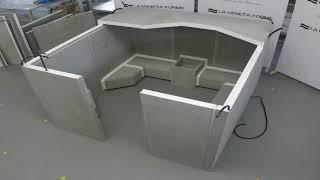 Montaggio di un bagno turco in EPS