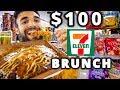 $100 7-ELEVEN BRUNCH CHALLENGE in TOKYO, JAPAN!