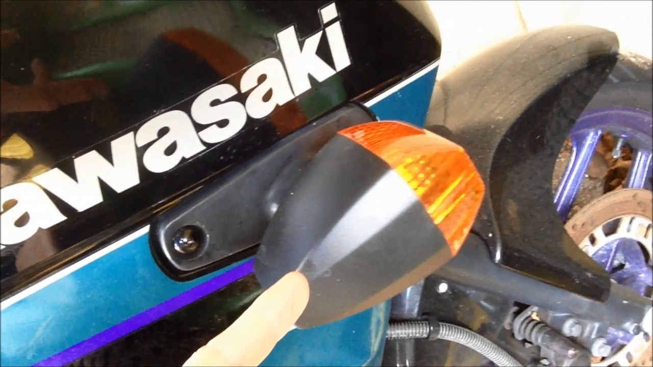 hight resolution of how to install a turn signal on a kawasaki ninja