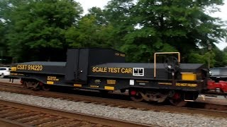 CSXT Test Scale Car On Back Of Train