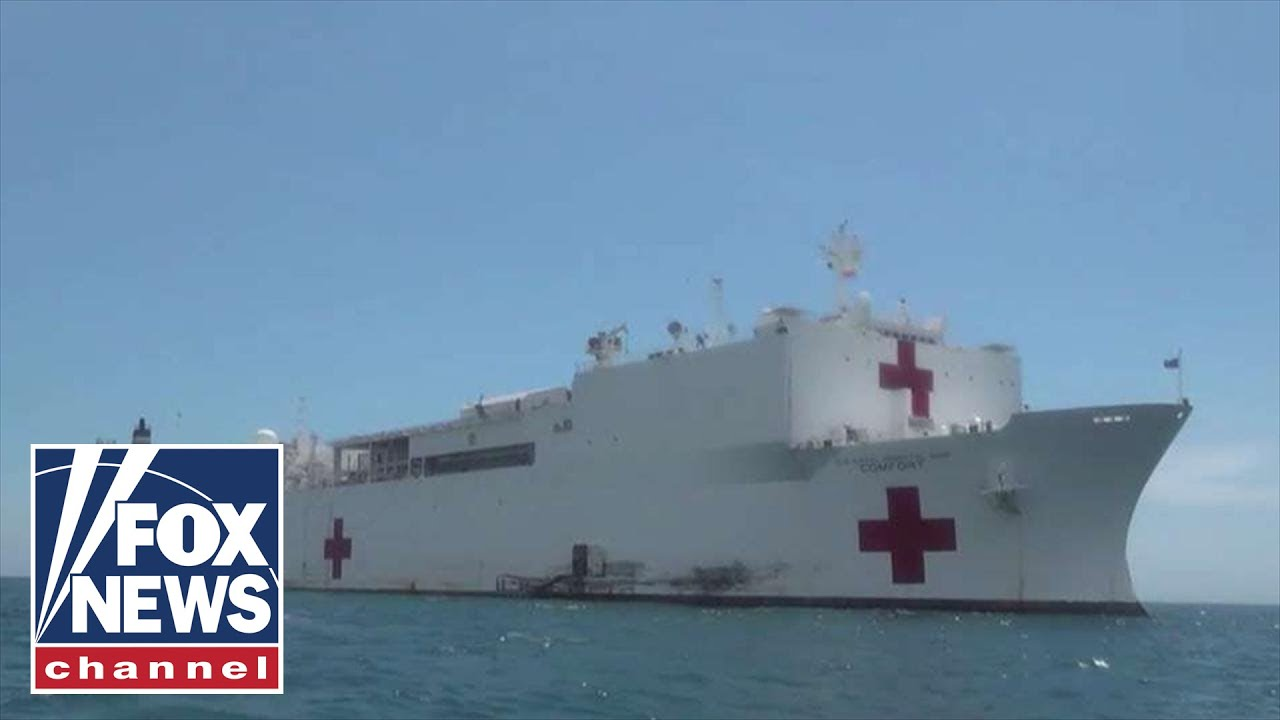 USNS Comfort arrives in New York Harbor
