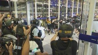 Live: Protesters and police clash at Hong Kong airport | ITV News