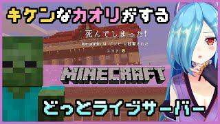 【Minecraft】放置してたらゾンビきた