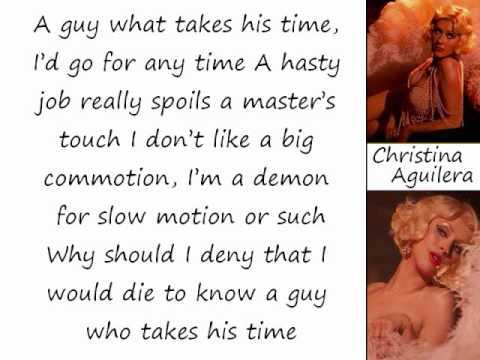 Christina Aguilera - Guy What Takes His Time (Lyrics On Screen)