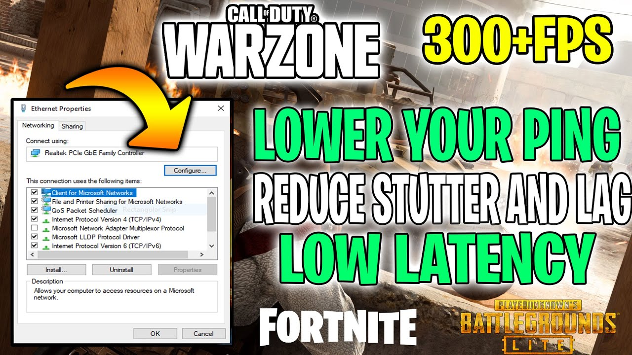 How To Lower Your Ping In Call Of Duty Warzone Reduce Stutters Fix Lag Call Of Duty Warzone Youtube