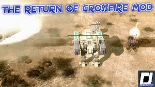 My return to the CROSSFIRE MOD , C&C 3 , Tiberium Wars Mod , GDI , Vs Random Brutal ai , 4k,