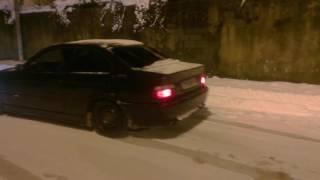bmw E36 snow drifting