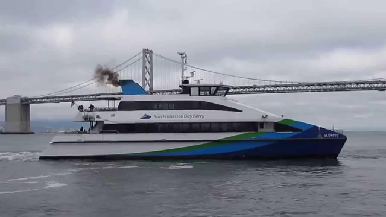 "san francisco bay ferry ""scorpio"" departure ferry building san"