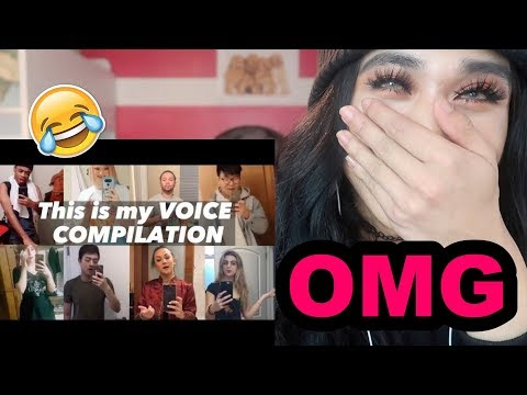 Reacting To BEST This is My Voice Challenge Compilation Meme Collection