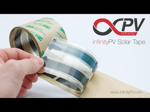 Flexible Solar Tape by infinityPV - organic solar cells that stick to any surface