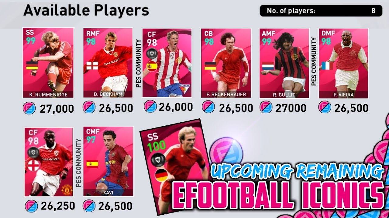 ALL REMAINING REDEEM ICONICS IN EFOOTBALL POINT SHOP | NEXT MONTH | PES 2021 MOBILE