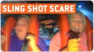 Lady Freaks On Sling Shot | Pissed Off Rider