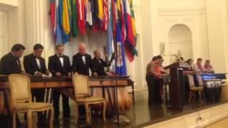 Marimba de Guatemala interpreta el Ferrocarril de los Altos ante nombramiento en OEA