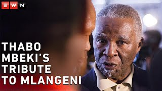 Former President Thabo Mbeki paid tribute to the late Andrew Mlangeni during his funeral service in Johannesburg.   #RIPAndrewMlangeni #ThaboMbeki #ANC