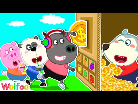 Wolfoo Pretend Play with Vending Machine Toy for Kids | Wolfoo Family Kids Cartoon