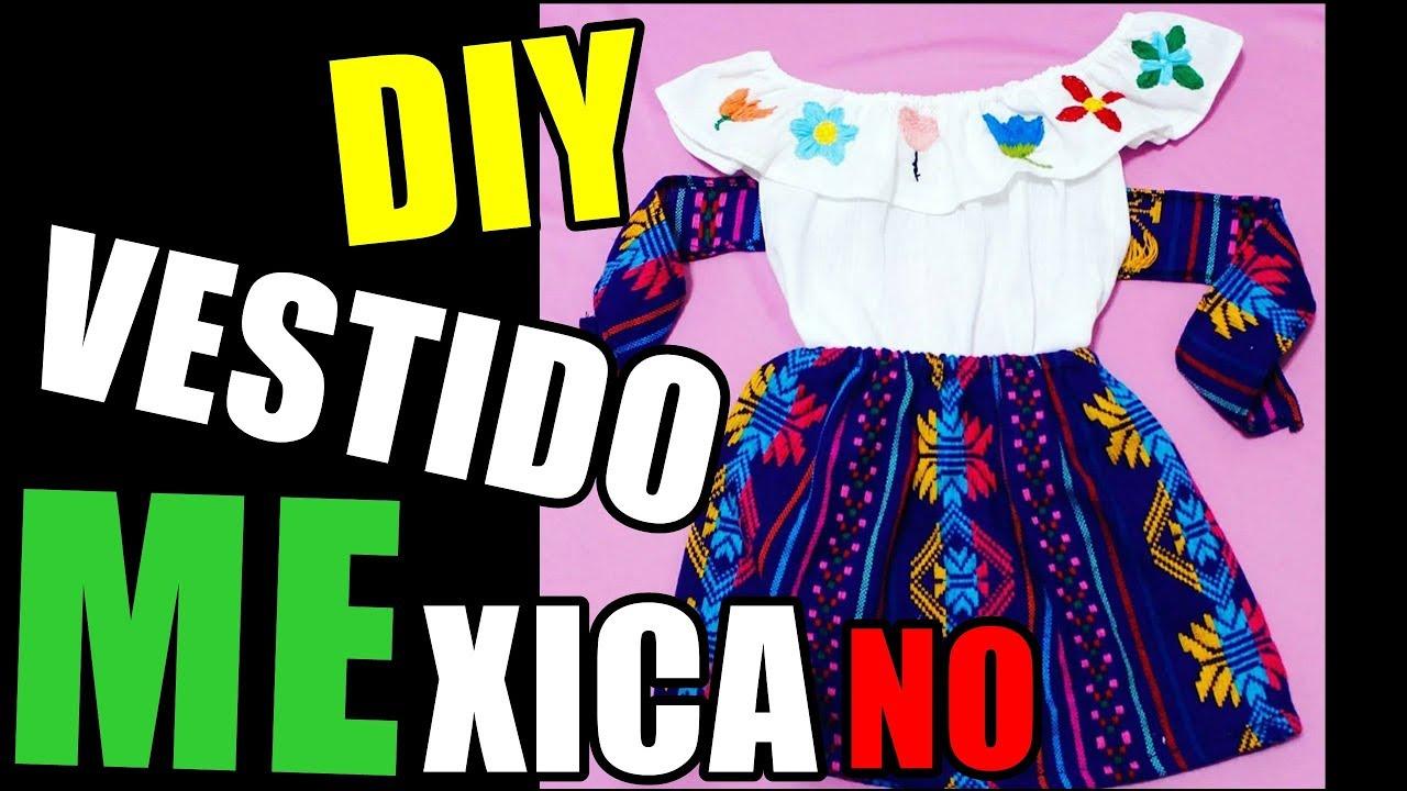 8b5267f37 Vestido Mexicano / blusa mexicana - YouTube
