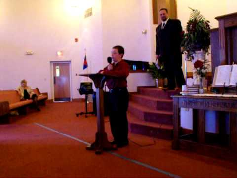 Austin Turner (9 Yo) Singing Amazing Grace My Chains are gone