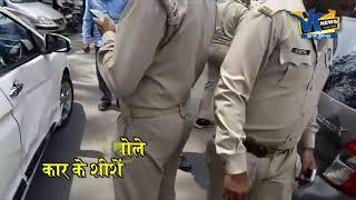 Road Rage in India   Police Kicks the Car