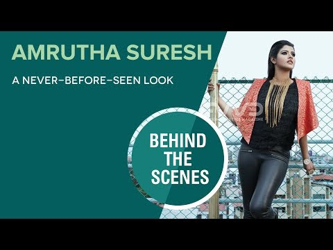 Amrutha Suresh In An Indo-Western Look For FWD Life - Behind The Scenes  Video