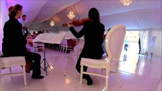Ensemble Alla Classica speelt achtergrondmuziek tijdens bruiloft