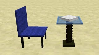 Chair & Dining Table in Minecraft