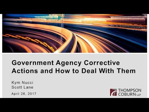 Government Agency Corrective Actions and How to Deal With Them