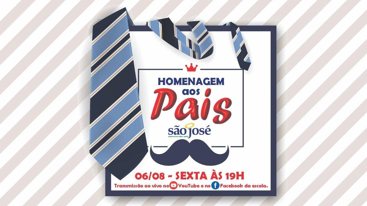 É HOJE, 06/09, às 19h! Live em Homenagem aos Pais do São José Kids e Júnior.