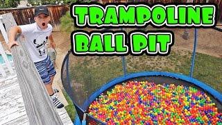 TRAMPOLINE BALL PIT