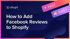 How to Add Facebook Reviews to Shopify (2020)