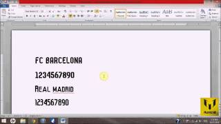 Download FC Barcelona & Real Madrid 14/15 Fonts