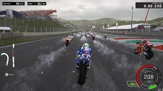 MotoGP 17 - Rain Gameplay (PC HD) [1080p60FPS]