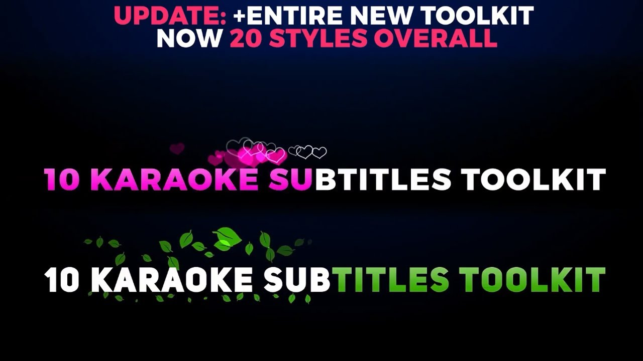 Download Karaoke Text Lyrics Effect - After Effects Template