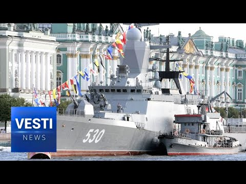 Ancient Russian Tradition Restored: Navy Day Celebrated in Style Along Neva in St. Petersburg