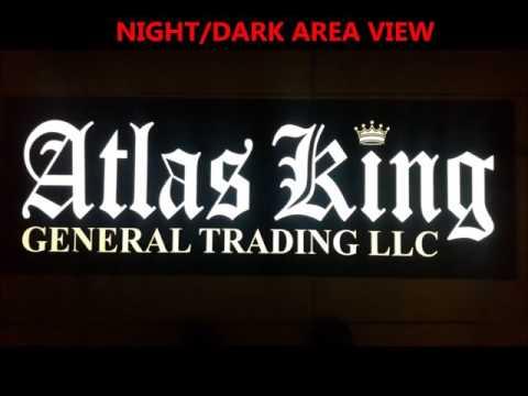 Atlas king Office  Lumino Sign - Oasis City  United Arab Emirates