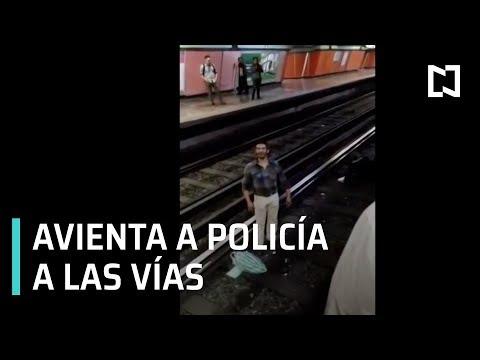 Tira a policía a las vías del Metro Jamaica - Expreso de la Mañana