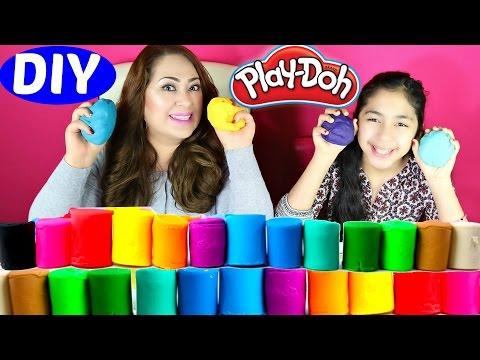 Play Doh DIY How To Make Play Doh at Home Really Easy| B2cutecupcakes