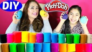 Play Doh DIY How To Make Play Doh at Home Really Easy  B2cutecupcakes