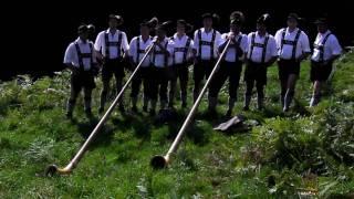 Urlaub im Allgäu, Alphornbläser aus Ofterschwang