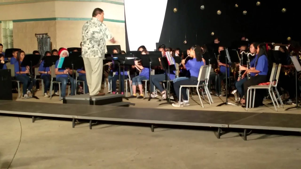 Kapolei Middle School and High School band Christmas concert 2015 ...