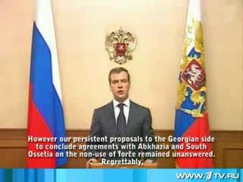 Statement by President of Russia Dmitry Medvedev