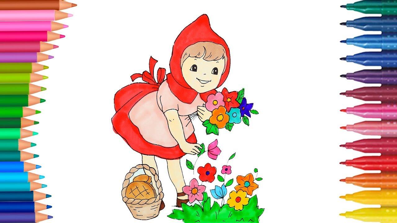 Kırmızı Başlıklı Kız Boyama Minik Eller Boyama Kitabı Youtube