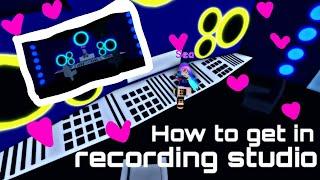 Como entrar no estúdio de gravação 🔊 | Roblox
