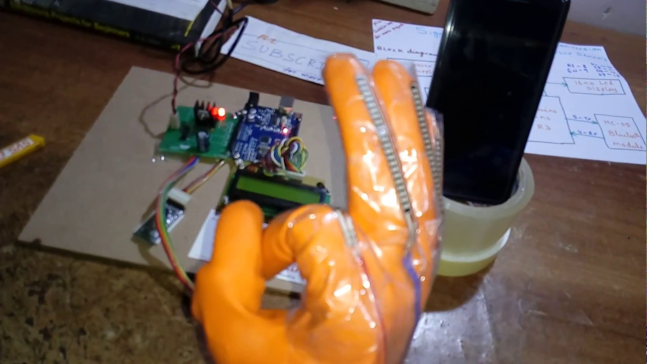 Hand Talk Using Flex Sensor With Voice Output