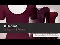8 Elegant  Skater Dress Burgundy Style Collection